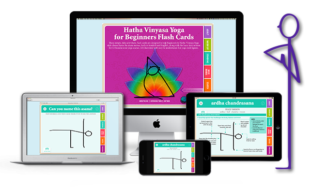 Hatha Vinyasa Yoga for Beginners Yoga Flash Cards on Apple Devices in iBooks