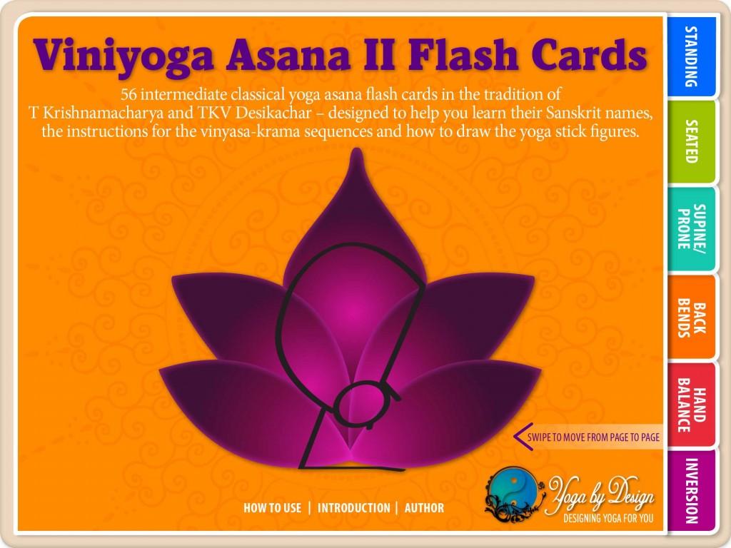 Yoga Book Cover Design : Viniyoga asana ii yoga flash cards books on