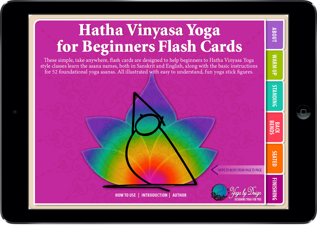 Hatha Vinyasa Yoga for Beginners Cover on the iPad