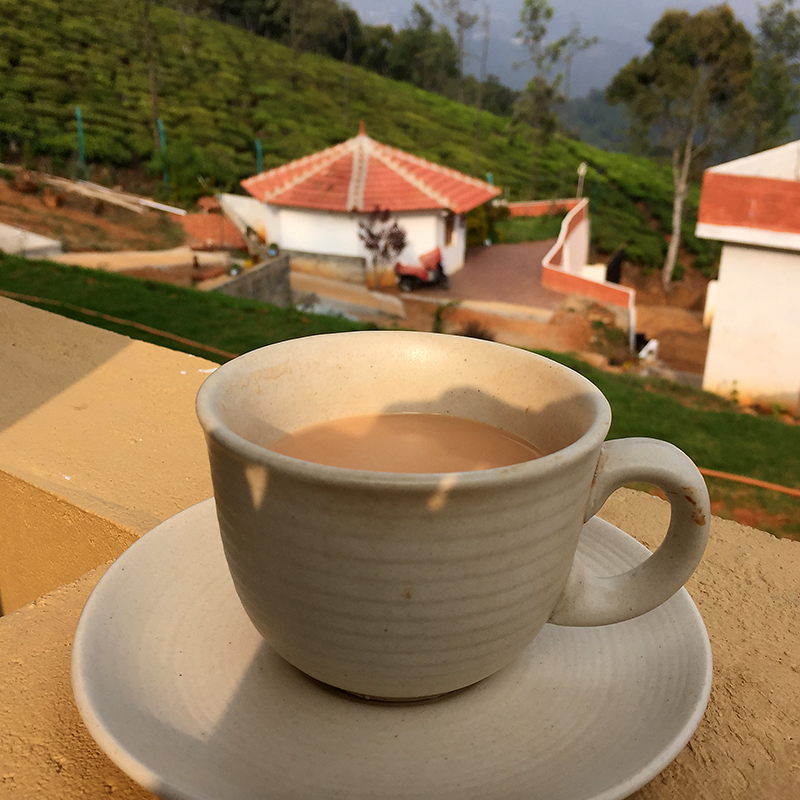 Afternoon ayurvedic chai tea at Mountain Top Clinic India