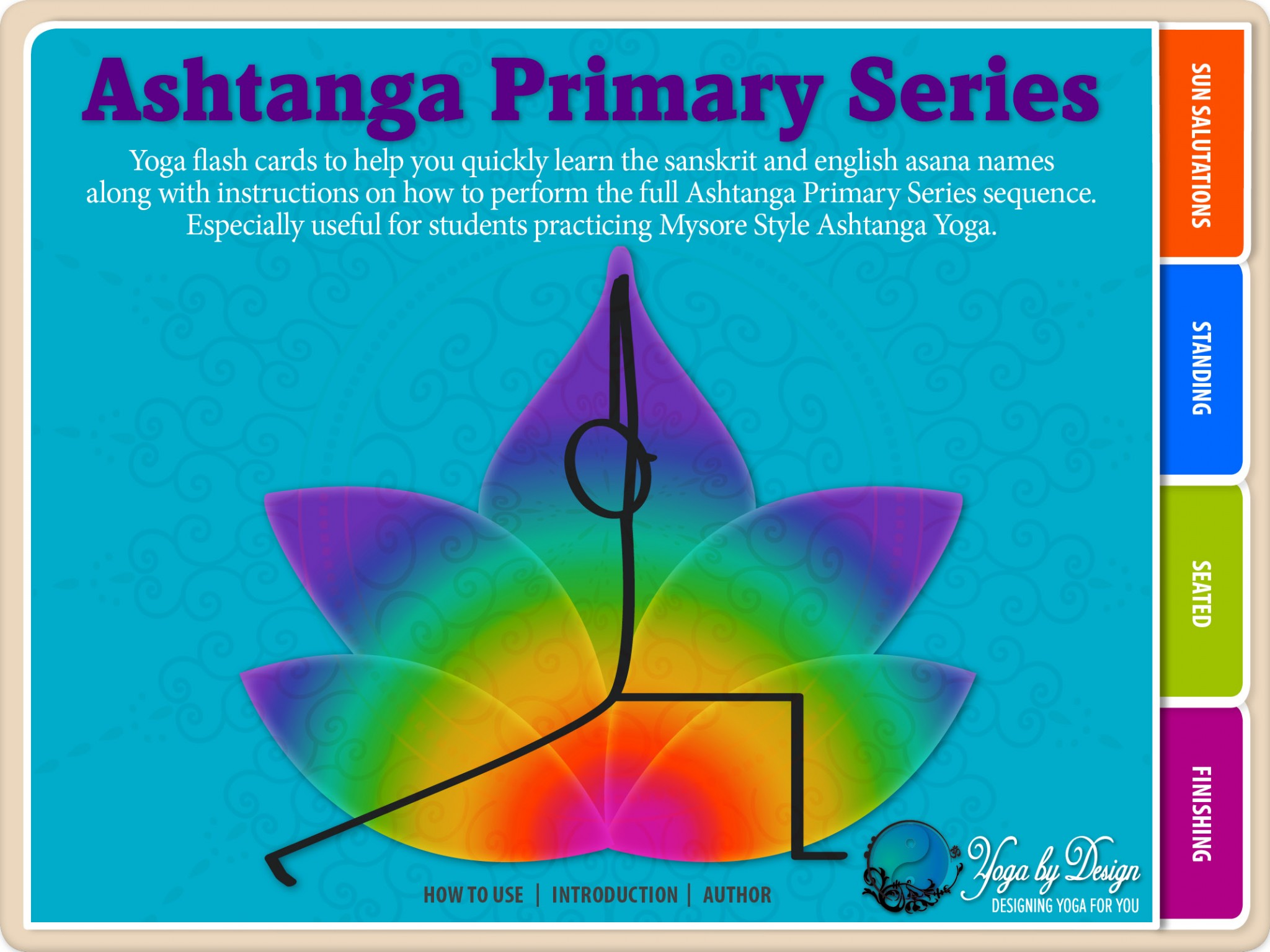 Ashtanga Primary Series Yoga Flash Cards Yoga Book Cover Image