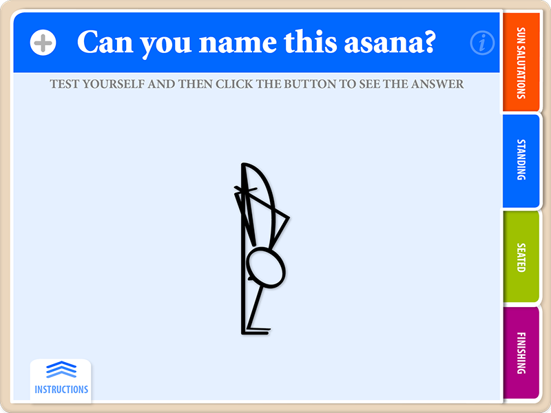 ARDHA BADDHA PADMA ASANA Yoga Flash Card