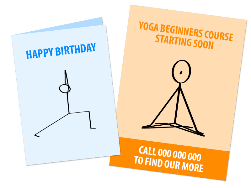 Downloadable Yoga Stick Figures to make your own yoga artwork