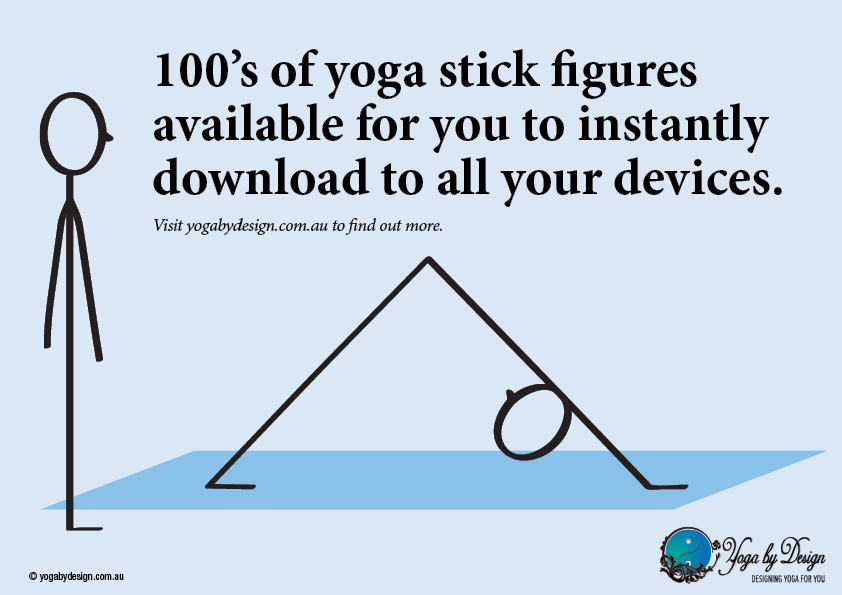 100s of Downloadable Yoga Stick Figures from yogabydesign.com.au