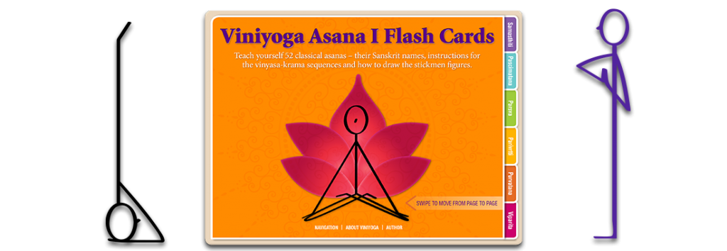 Viniyoga asana 1 yoga flash cards