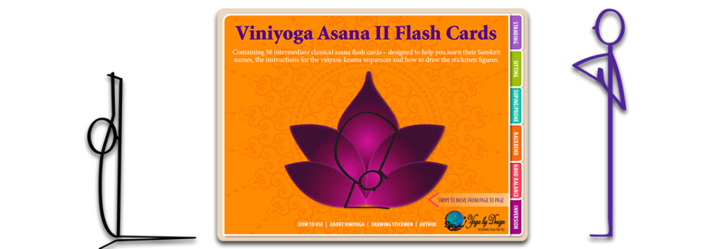Viniyoga Asana 2 Yoga Books stick figures cover image