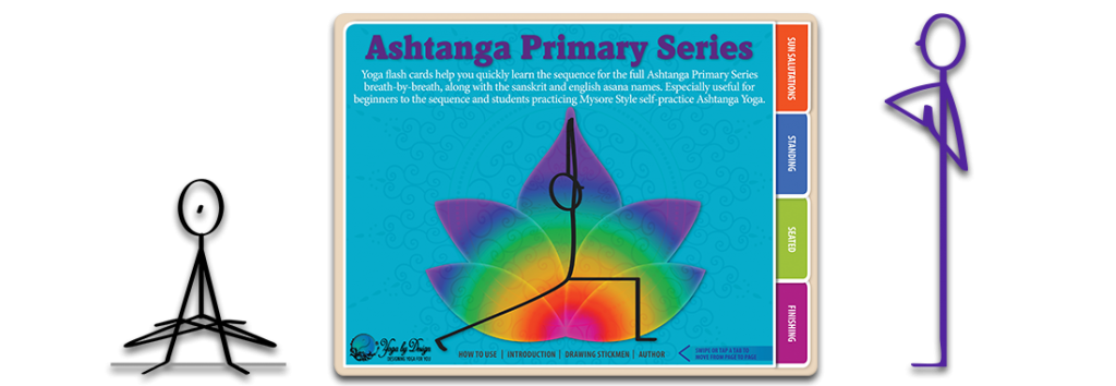 ashtanga primary series yoga flash cards book