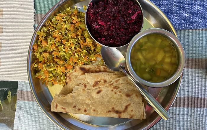 Organic Ayurvedic food for lunch