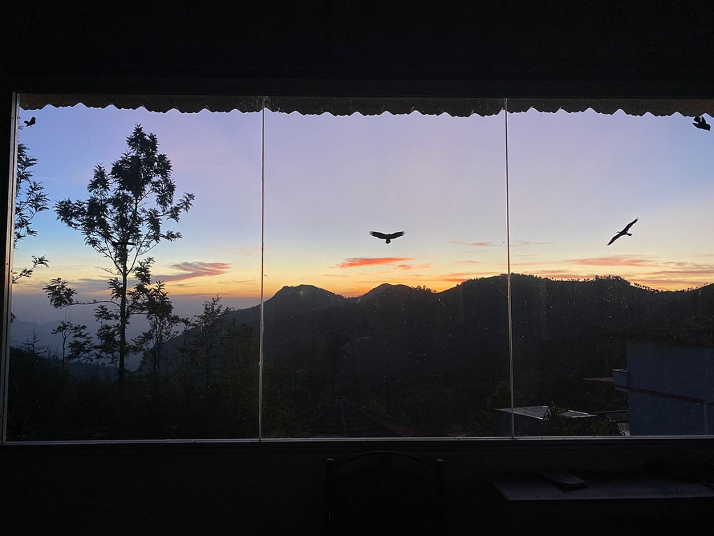 Sunrise from Yogashala at Mountain Top Ayurveda Clinic